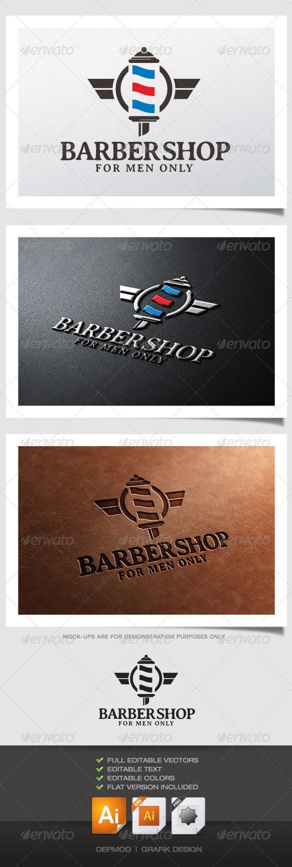 Barber Shop Logo - Symbols Logo Templates