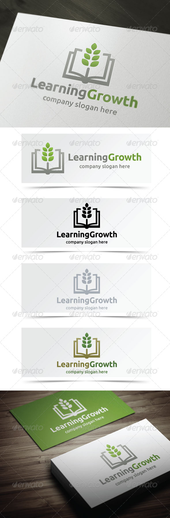 Learning Growth - Objects Logo Templates