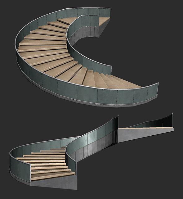 Lobby Staircase - 3DOcean Item for Sale