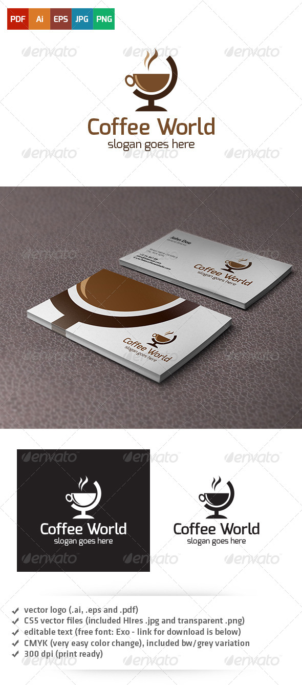 Coffee World Logo - Abstract Logo Templates