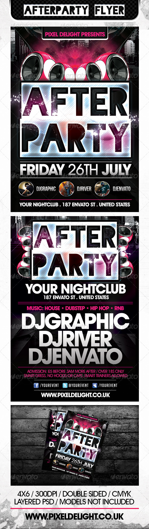 Afterparty Club Flyer - Clubs & Parties Events