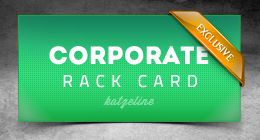 Corporate 9x4in Rack Card Flyer Template