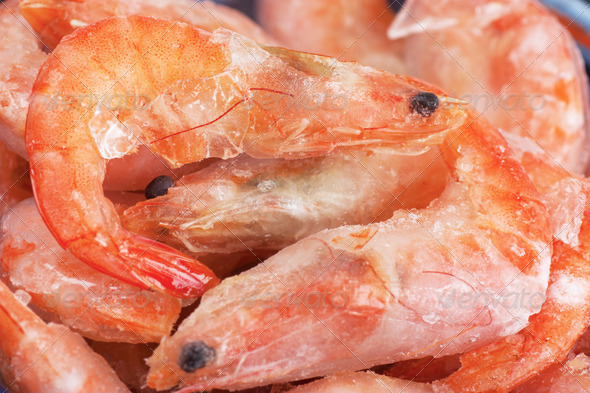 Frozen shrimps - Stock Photo - Images