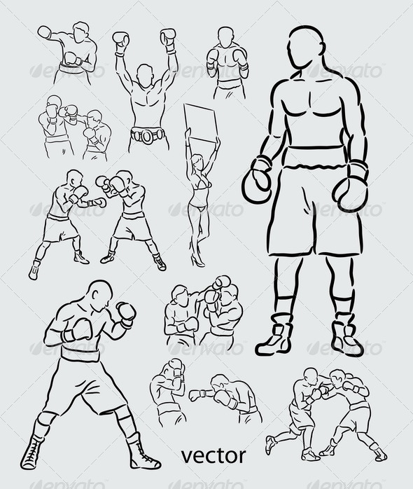 Boxing Sketches - Sports/Activity Conceptual