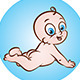 Happy Naked Baby - GraphicRiver Item for Sale