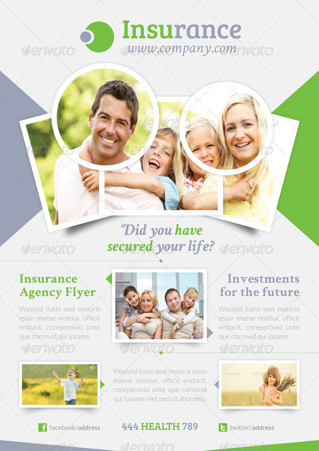 insurance agency flyer templates  Insurance Agency Flyer Template by grafilker | GraphicRiver