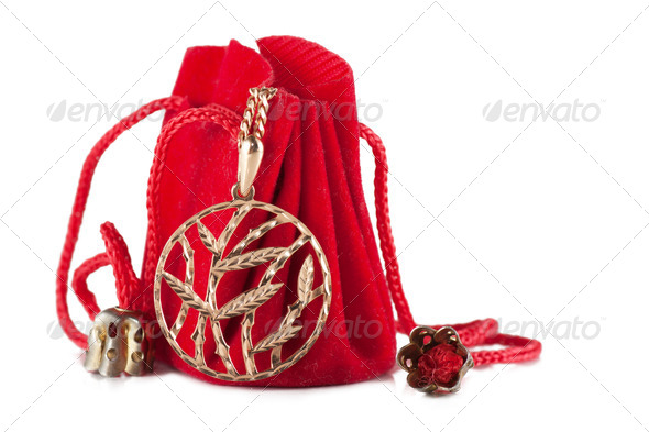 Little red bag - Stock Photo - Images