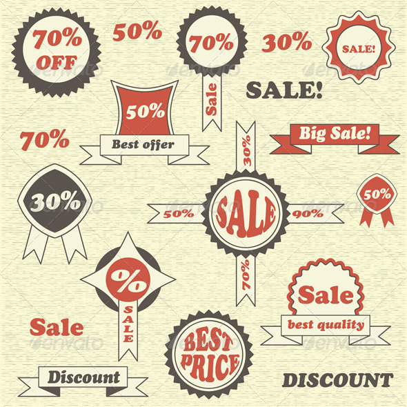 Vector Sale Collection - Retail Commercial / Shopping