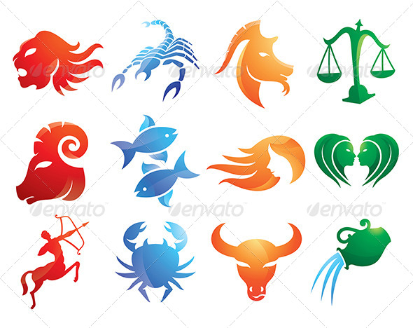 Abstract Zodiac Signs Designs Pack - Abstract Conceptual