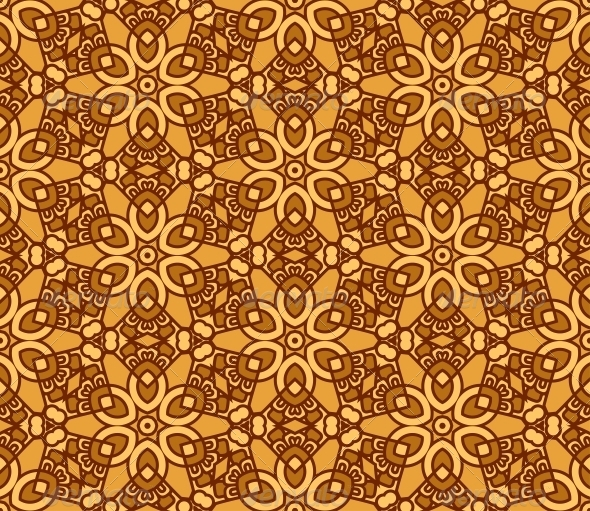 Seamless Retro Pattern Background - Patterns Decorative