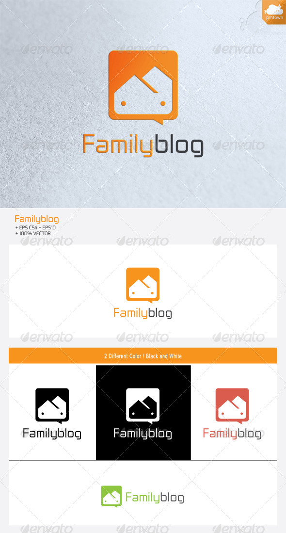 FamilyBlog - Humans Logo Templates