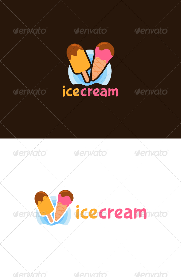 Ice Cream Logo - Food Logo Templates