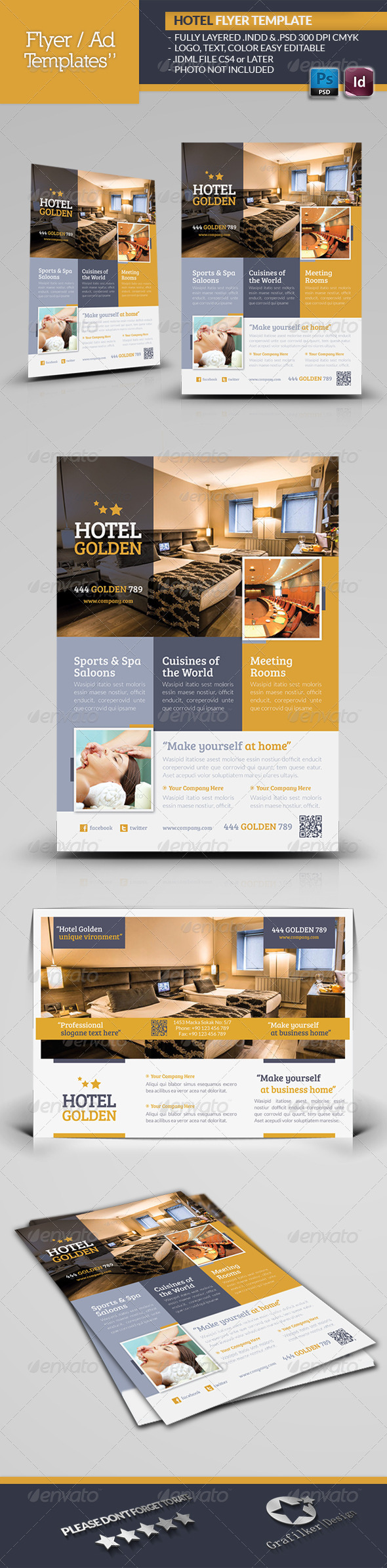 Hotel Golden Flyer Template - Corporate Flyers
