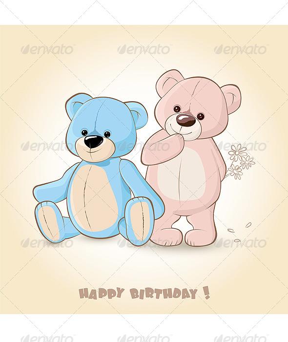 Teddy Bears  - Characters Vectors