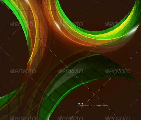Colorful Swirl Abstract Background - Backgrounds Decorative