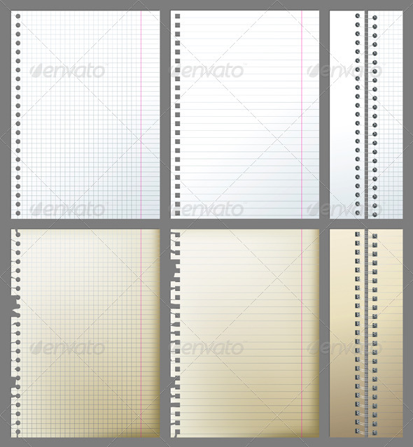 Paper Pages and Binders - Miscellaneous Vectors