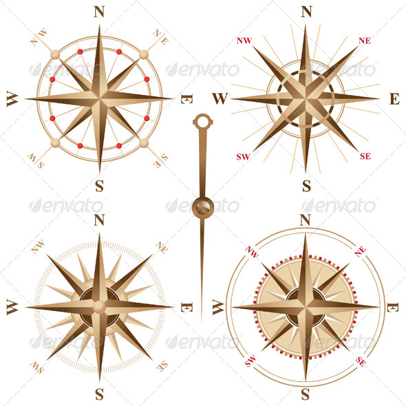 Retro Compasses - Man-made Objects Objects