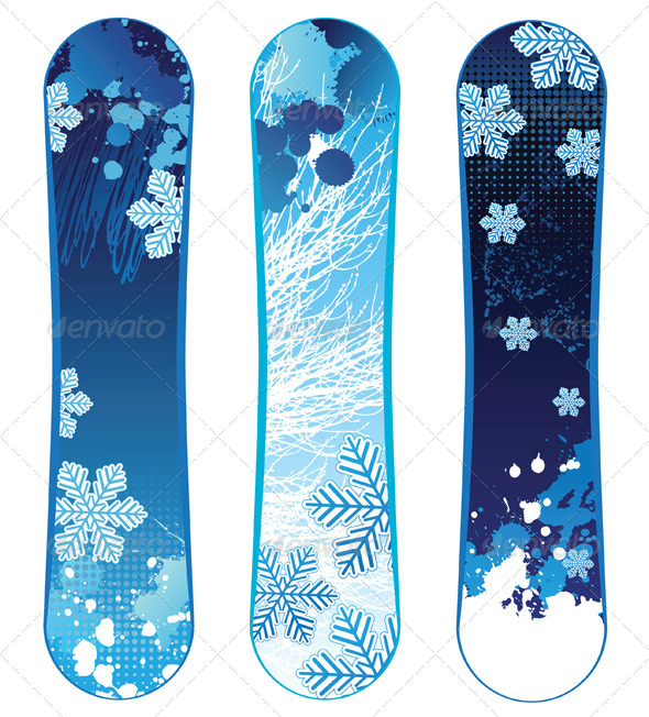 Snowboards - Sports/Activity Conceptual