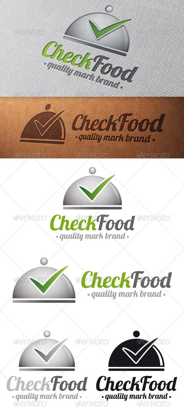 Gourmet Tick Check Mark Logo Template - Food Logo Templates