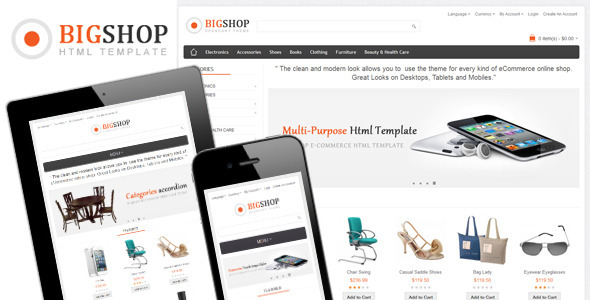 Bigshop – Multi-Purpose Responsive Html Template