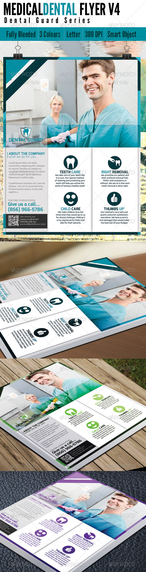 Medical Dental Flyer V4 - Flyers Print Templates