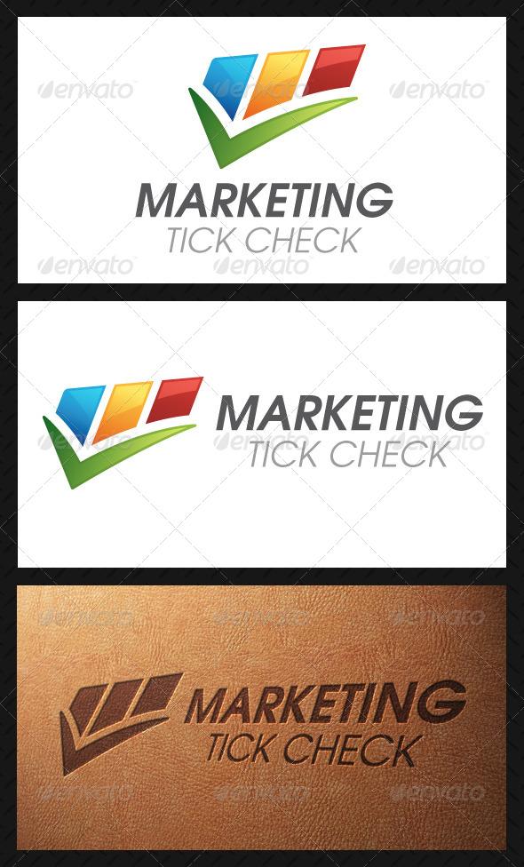 Marketing Tick Check Mark Logo Template - Symbols Logo Templates
