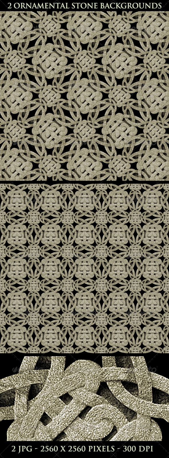 Ancient Ornamental Stone Background Pattern - Patterns Backgrounds