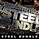 Metal Steel Photoshop Layer Styles Bundle - GraphicRiver Item for Sale