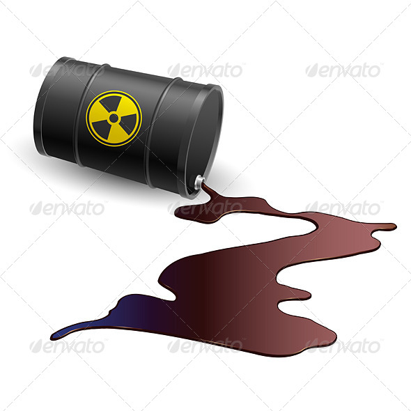 Barrel with Toxic Liquid - Conceptual Vectors