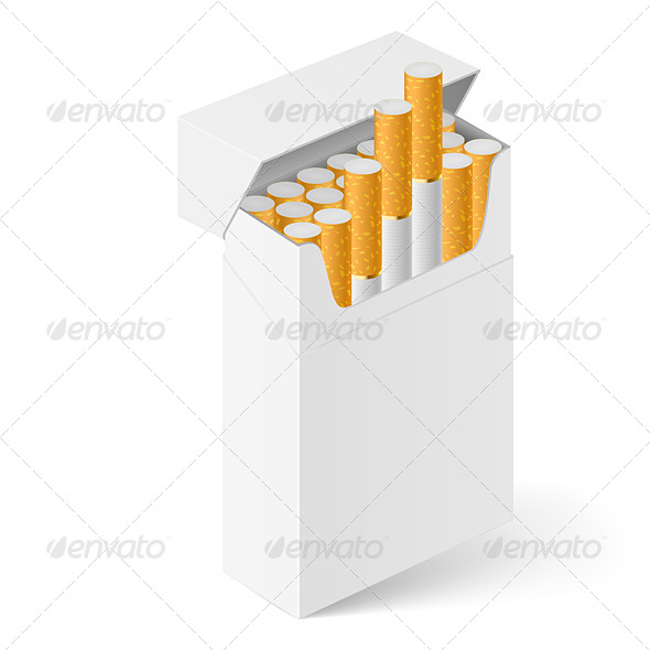 White Pack of Cigarettes - Miscellaneous Vectors