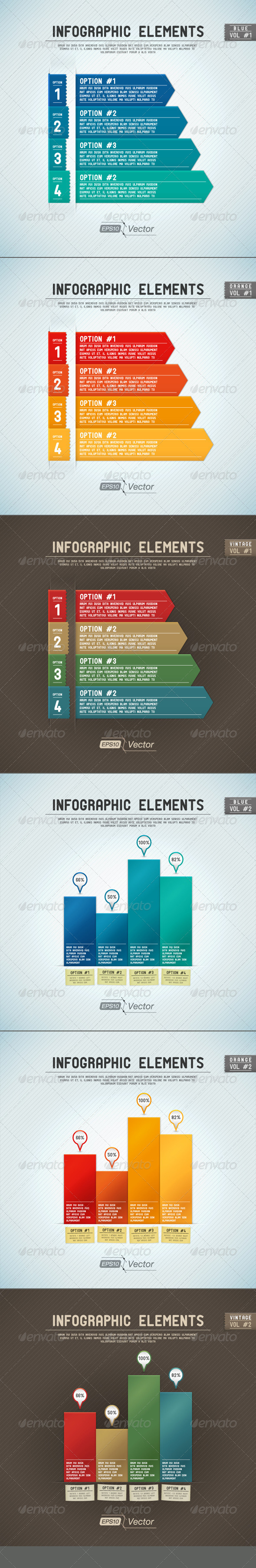 Infographic Elements - Two Kind Of Bar Graph - Infographics