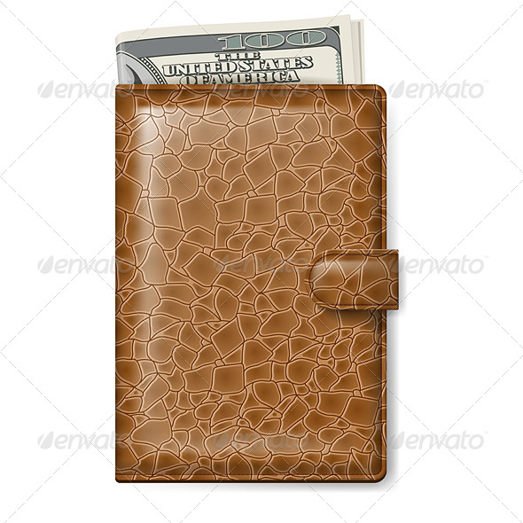 Leather Wallet - Man-made Objects Objects