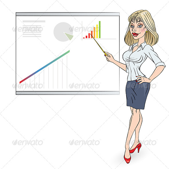 Business Woman - Characters Vectors