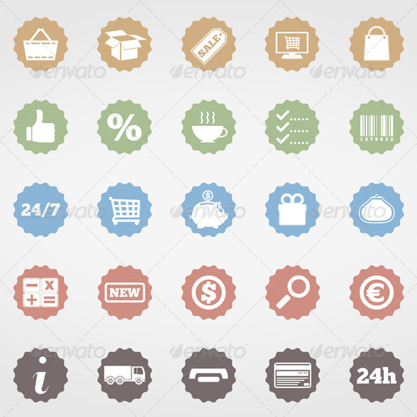 Shopping Icons - Commercial / Shopping Conceptual