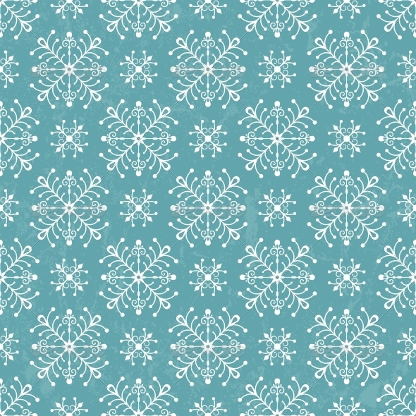 Seamless Pattern with Stylized Snowflakes - Christmas Seasons/Holidays