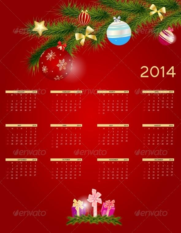 2014 New Year Calendar - New Year Seasons/Holidays