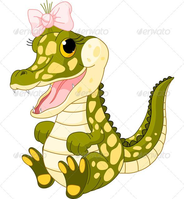 Baby Girl Crocodile - Animals Characters