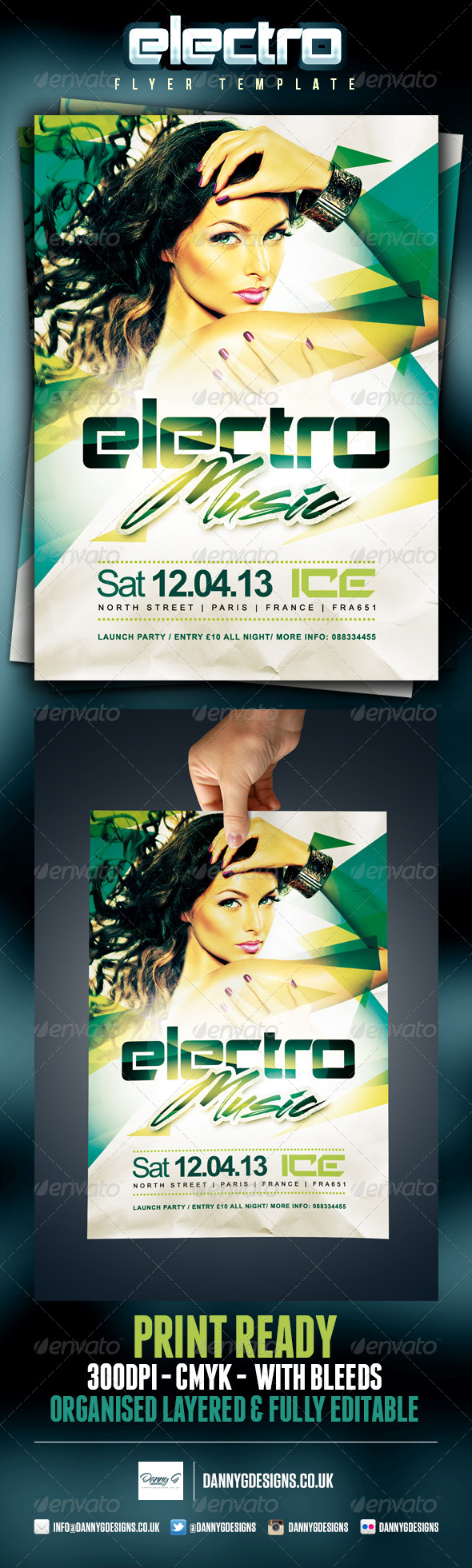 Electro Music Flyer Template - Clubs & Parties Events