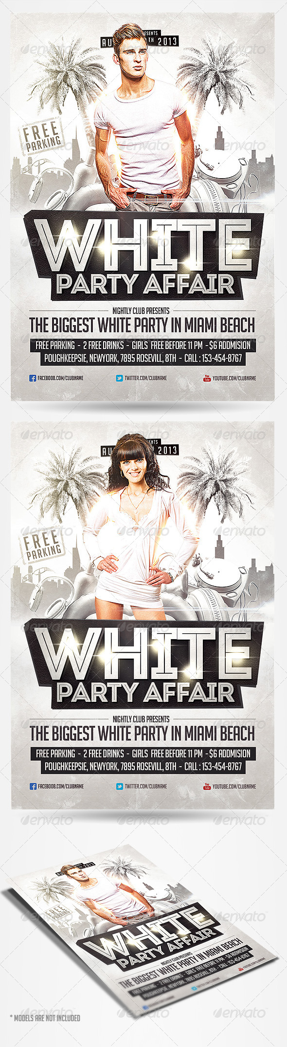 White Party Affair Party Template - Clubs & Parties Events