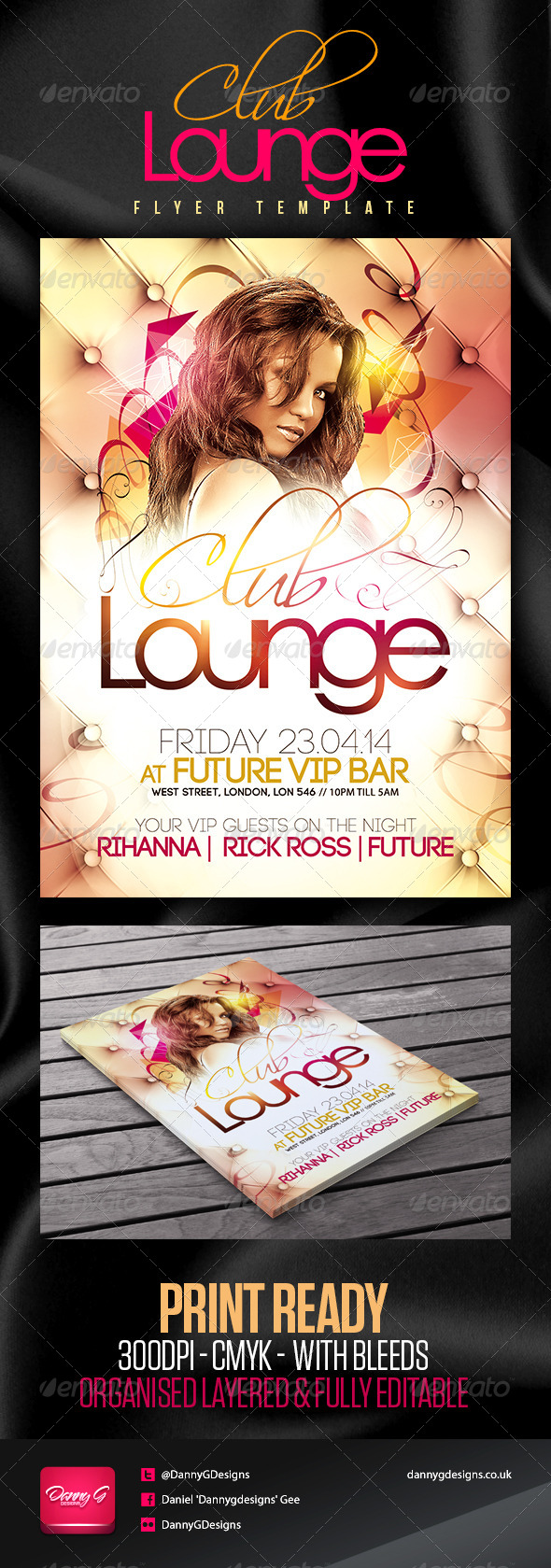Club Lounge Flyer Template - Clubs & Parties Events