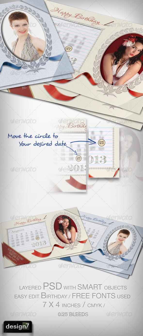 Birthday card template  - Birthday Greeting Cards