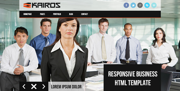 KAIROS – Responsive Multipurpose Business Template