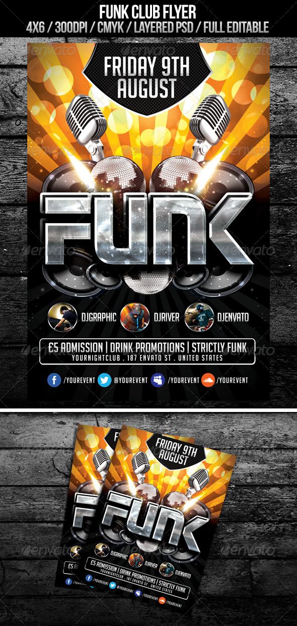 Funk Club Flyer - Clubs & Parties Events