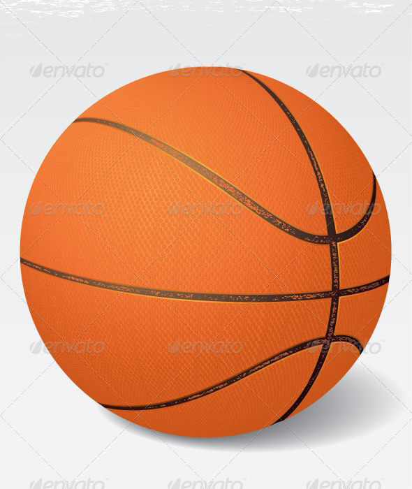 Realistic Vintage Vector Basketball - Sports/Activity Conceptual