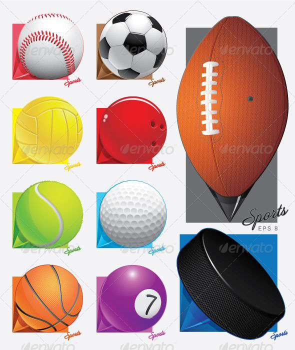 Colorful Sports Map Pointers  - Sports/Activity Conceptual