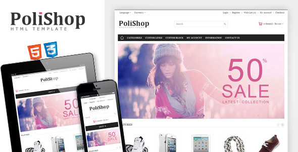 Polishop – Responsive eCommerce Html Template