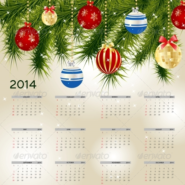 2014 New Year Calendar - New Year Seasons/Holidays