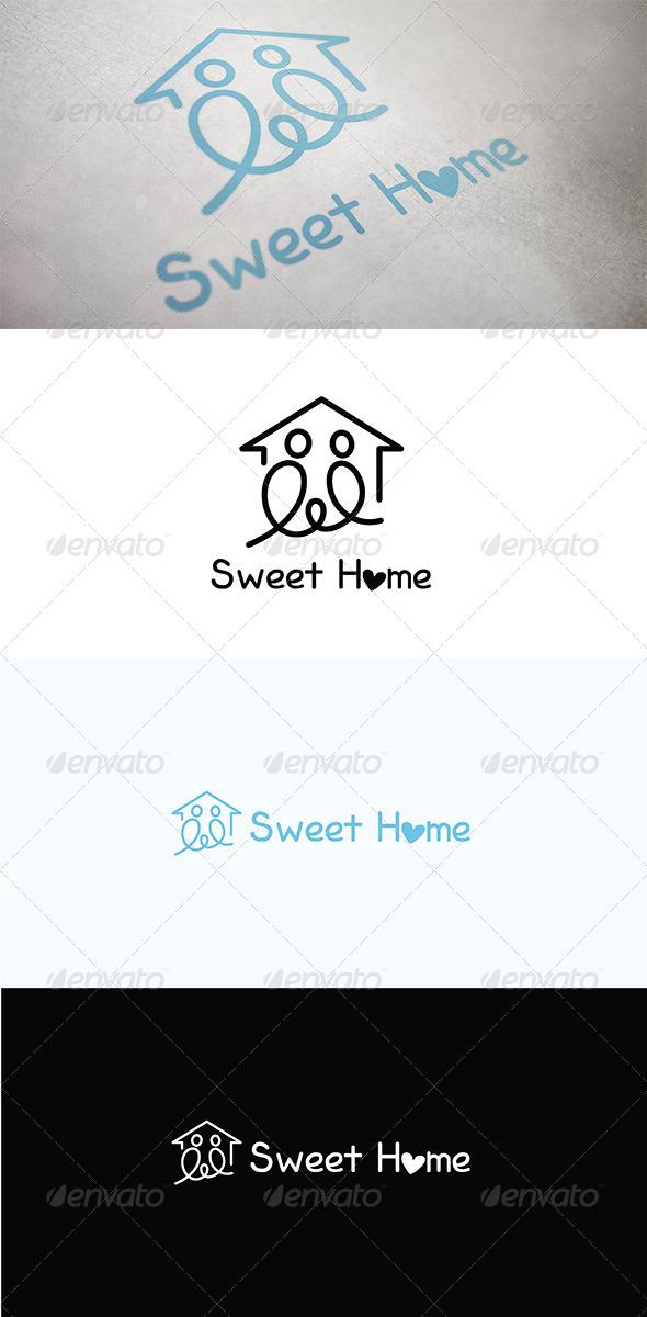Sweet Home - Buildings Logo Templates