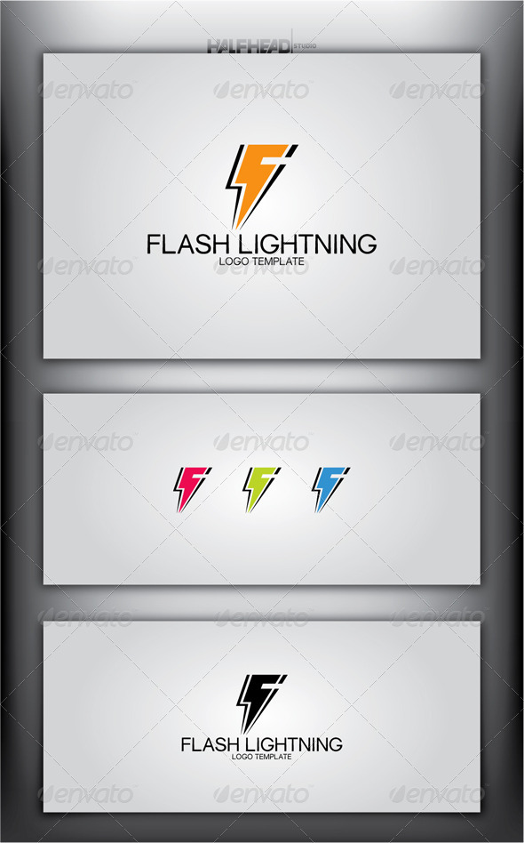 Flash Lightning Logo Template - Letters Logo Templates
