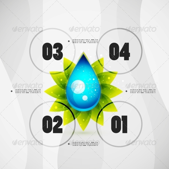 Option Banner Modern Infographic - Backgrounds Decorative
